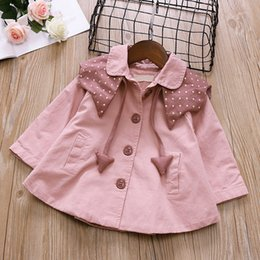 Down coat for baby online shopping - Baby Girls Coat long Sleeve turn Down Collar Shawl for Autumn year single breasted windbreaker Casual Clothes