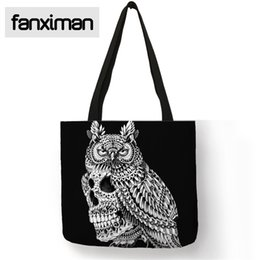 Discount shop for beds - Eco Friendly Linen Reusable Bag For Shopping Travel Home Storage Bags Owl Bulldog Elephant Print Women Handbag Shoulder