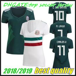 c7b893cf49b MEXICO WOMEN SOCCER JERSEYS 2018 world cup CHICHARITO LAYUN LOZANO DOS  SANTOS HERRERA LAYUN girls Mexico football shirt camisetas de futbol