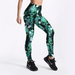 9f872ef1fb New Halloween Series Sexy Women Leggings Trousers Yoga Fitness Elastic  Tights Girls Breathable Skulls Style Lady Gym Pants S-4XL