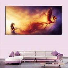 $enCountryForm.capitalKeyWord Canada - Drawing-Art-Phoenix-Girl-Magic-Background-Painting Home Decor Wall Art Painting Wall Painting Picture Modern No Frame