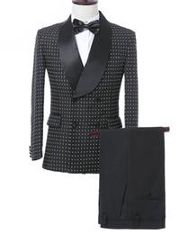 Опт Solovedress Custom Mounte Mounts Suit Groom Fuxedos Fuxedos Forman Combols Двухбордовые Blazer Лучший мужской Костюм Свадьба (Куртка + Брюки)
