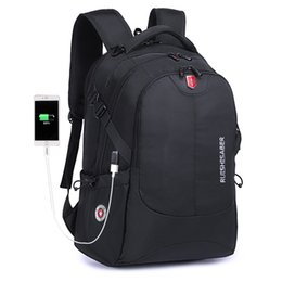 Chinese  Swiss Waterproof Nylon Backpack Unisex Men's Laptop phone charger Backpack Casual School Bags Travel for 15 to 17 inch manufacturers