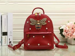 Styles Backpacks Australia - 2018 new female backpack high quality PU leather fashion rivet handbags shoulder bag girls backpack bags Free 13611 shipping