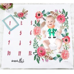 Infant swaddlIng blankets online shopping - Newborn Baby Photography Blanket with numbers Baby Boys Girls Unisex Flowers Print Swaddling Wraps Infant Props blanket cm BHB31