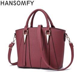 Business Fashion For Women Australia - HANSOMFY 2018 Fashion Handbag For Women Patchwork Shoulder Bags Female Designer Luxury Business OL Crossbody Bags Ladies Totes
