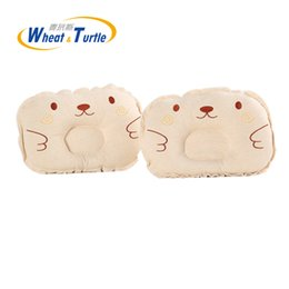 cartoon shaped beds NZ - Mother Kids Bedding Baby Pillows Baby Head Shaping Pillow Soft Cotton Lovely Cartoon Sleep Head Positioner Anti-rollover Pillow
