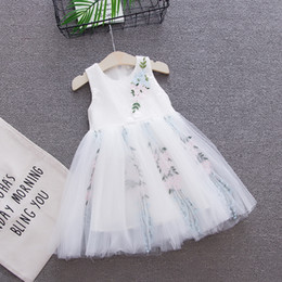 baby dresses cotton for wedding Australia - Summer Baby Girls Dresses Princess Wedding Tutu Dress Party Dress for Girls Clothing Infant Kids Dresses Birthday Boutique Baby Girl Clothes