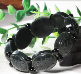 Chinese  Natural Hetian jade bracelet Xinjiang Sapphire long life hundred years old bracelet boutique fashion turtle shell bracelets rich in the worl manufacturers