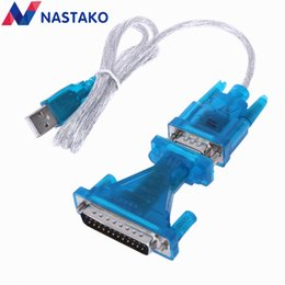 Pin Db9 NZ - NASTAKO New USB to RS232 COM Port Serial PDA 9 pin DB9 Cable Adapter to DB25 25Pin Converter Support Windows7 Wholesale