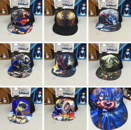 Doraemon Free Gift Australia - 5pcs The Avengers Detective Conan Doraemon mix boy girl Fashion Sun Hat Cloth cap Casual Cosplay Baseball Cap gifts