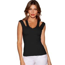 c1256bb19eea9 Cut out Clubwear tops online shopping - Anself Sexy Women Tank Top Solid Cut  Out V