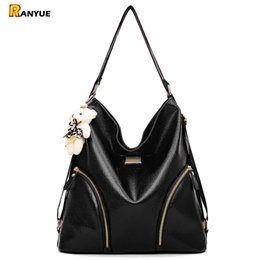 $enCountryForm.capitalKeyWord Australia - Black Hobo Women Bag Double Shoulder Bags For Women Pu Leather Handbags Ladies Hand Bags Large Capacity Tote Bag With Bear Bolsa