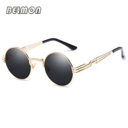 round steampunk sunglasses goggles Australia - Steampunk Sunglasses Goggles Men Women Brand Designer Retro Round Sun Glasses For Ladies Vintage Female Male Oculos de sol RS094