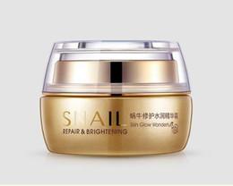 Snail care whitening online shopping - DHL free BIOAQUA Natural Snail Essence Cream Facial Cream Moisturizer Whitening Skin Anti Aging Oil Control Shrink Pores Skin Care