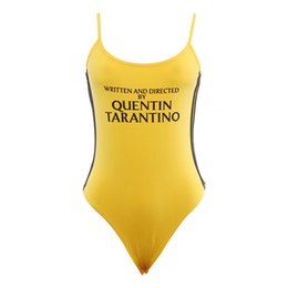 Yellow bodYsuits online shopping - Sexy Women Casual Bodysuits Print Letters O Neck Bodycon Skinny Knitted Female Jumpsuits Romper Button Summer Yellow