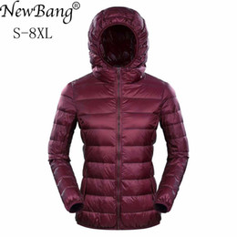 1a423e3e621 2019 NewBang Brand Womens Down Jackets Ultra Light Down Jacket Women 5XL  6XL 7XL Plus Feather Winter Thin Warm Windbreaker Coats