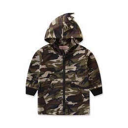 boys camouflage jacket 2019 - Spring Autumn Camouflage Long Sleeve Kids Thin Jacket Casual Outerwear Coats Boys Kids Baby Hooded Dinosaur Children Clo