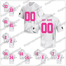 e1ffe1c863e Custom Notre Dame Fighting Irish 2018 Mother Days Pink White Stitched Any  Name Number Montana Adams NCAA College Football Jerseys S-3XL