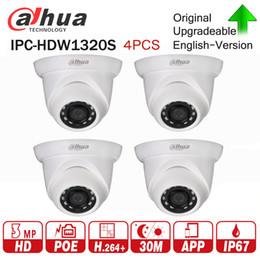 $enCountryForm.capitalKeyWord UK - DaHua Original IPC-HDW1320S 3MP Mini Dome IP Camera Day Night infrared CCTV Camera Updatable POE IP67 Security 4pcs lot