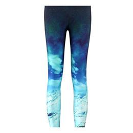 592dc738346 Pottis Women Leggings Blue Sky Leggings OEM Digit Print Pants Beach  LEGGINGS Plus Size Slim Breathable Yoga Pants