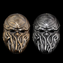 Discount payday masks - High Quality Wargame Tactical Resin Payday 2 Masks Cthulhu Game Props Cosplay Masquerade Ball Pay Day 2 Mask