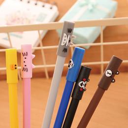 Stationery Australia - 2 Pcs Cute animal Neutral pens & Gel pens Kawaii stationery School & Office Supplies Student Writing tools Children Gift Escolar