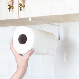 Nice Fashion Bathroom Paper Rack Under Cabinet Paper Rolls Towel Hanging Kitchen Towel Rack Toilet Roll Holder Racks Stainless Metal Bathroom Hardware