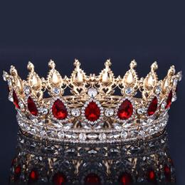 Luxus Brautkrone Strass Kristalle Königliche Hochzeit Kronen Prinzessin Kristall Haarschmuck Geburtstagsfeier Tiaras Quinceaner Sweet 16 im Angebot