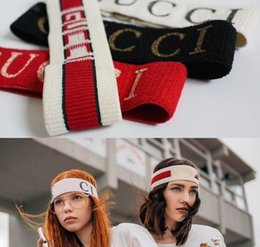 Wholesale 2018 Luxury Brand Women s Scarf Echarpes Foulards Cachecol Designer Elastic Headband Hair Bands for Men and Women Best Quality