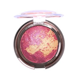 Color Powder Blusher UK - New Shimmer Bronzer Highlight Powder Blush Palette Makeup Stardust-Multi Silky Smooth Mineral Baked Cheek Color Blusher