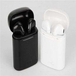 Wholesale 1pcs I7 I8 TWS Twins Bluetooth Earbuds Mini Wireless Earphones Headset with Mic Stereo V4 Headphone for Iphone samsung Sports running