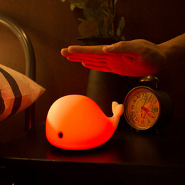 China USB Rechargeable Cute Dolphin Touch Night Light Multicolor LED Light Silicone Night Lamp for Child Bedroom Desk cheap dolphin bedroom lamp suppliers