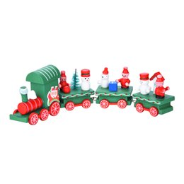 $enCountryForm.capitalKeyWord UK - New Cute 4 Pieces Wood Christmas Xmas Train Decoration Decor Gift Christmas Stage Set Drop Shipping