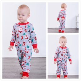 51e97c14b009 Cute yellow pajamas online shopping - 2018 INS Cute Christmas pajamas set  Xmas Red Cartoon Kids