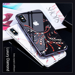 $enCountryForm.capitalKeyWord Australia - wholesale Bling Diamond Case for iPhone XS Max Crystals Decor Electroplated Phoenix Pattern PC Hard Cover for iPhone XS Max Capa