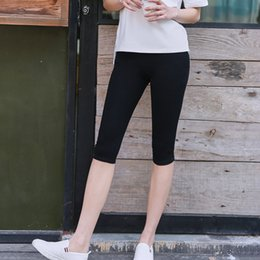 $enCountryForm.capitalKeyWord NZ - 2018 New Summer Women Short Legging Thin Women Outside Large Size Stretch Grey Black Leggings
