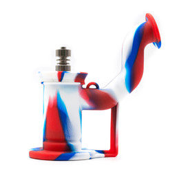 "$enCountryForm.capitalKeyWord NZ - Silicone Dab Rigs Multi-Function Bongs Water Pipe 6"" inch Silicone Smoking Pipe Detachable Titanium Nail Dabber Tool Wax Jar DHL free"