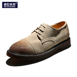 mens casual nubuck shoes NZ - US Size Mens Nubuck Leather Lace Up Round Toe Oxfords Casual Chukkas Dress Shoes Casual Shoes