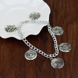 $enCountryForm.capitalKeyWord NZ - Fashion Vintage Chain Link TV Series Jewelry Teen Wolf 6 Themed Charms Silver Metal Charm a bracelets for women bijouterie