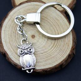 $enCountryForm.capitalKeyWord NZ - 6 Pieces Key Chain Women Key Rings Couple Keychain For Keys Owl Connector 27x13mm