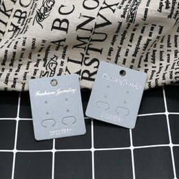Handmade Cards Sale Australia - Hot sale 100pcs Lot Earrings Dispaly Fashion Jewelry Colorful Card Organizer Tags DIY handmade Fashional Ring Stud Packing Card