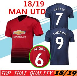 c577ea3a263 2018 2019 Premier League POGBA ALEXIS LUKAKU MAN MARTIAL UTD LINGARD  RASHFORD Soccer Jersey Custom Home Away 18 19 united Football Shirt