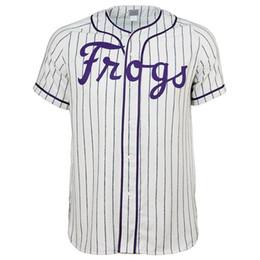 Texas Baseball UK - Texas Christian University 1963 Home Jersey 100% Stitched Embroidery Logos Vintage Baseball Jerseys Custom Any Name Any Number Free Shipping