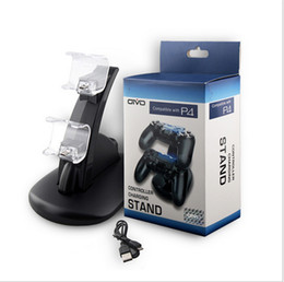 Station Wireless Controllers Australia - Dual Controllers Charger Dock Stand Station wireless Gamepad joystick Charging holder For Sony PlayStation 4 PS4 PS 4 Xbox one x-box one