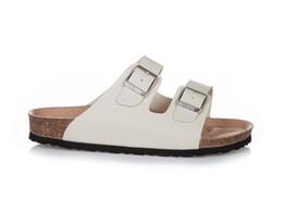 403070b16c7995 Men and Women Slide Sandal Buckle Slip On Slippers Comfort Cork Footbed  Women s Gizeh Cork Thong Arizona buckle leather milky white Sandal