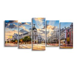 $enCountryForm.capitalKeyWord NZ - 5 pieces high-definition print European landscape canvas painting poster and wall art living room picture PL5-236