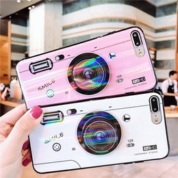 Wholesale Plastic Camera Cases NZ - Kickstand Phone Case For iPhone 6S 6 7 8 X Case Silicone Cute Camera Stand Holder Cover For iPhone 6 S 6Plus Case
