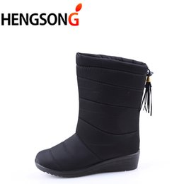 $enCountryForm.capitalKeyWord Australia - HENGSONG Winter Women Boots Mid-Calf Down Boots Female Waterproof Ladies Snow Boots Winter Shoes Woman Plush Insole Botas Mujer