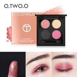 Wholesale O TWO O colors Palette Eyeshadow With Brush Make Up Eye Shadow For Women Girl Gift Palette Professional Makeup long lasting